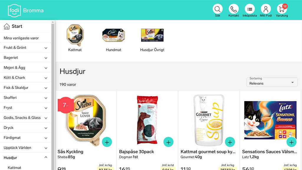 FODI - Development of grocery store online - Fastdev